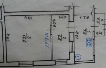 продам 2 ком квартиру, ул Основянская 36,  1 этаж одноэтажного жилкоповского дома